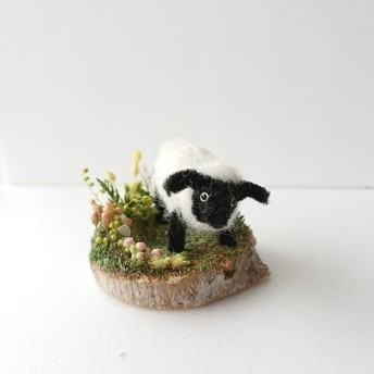 miniature*羊の散歩