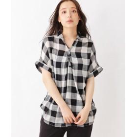 SHOO・LA・RUE / シューラルー スキッパーフロントタックシャツ