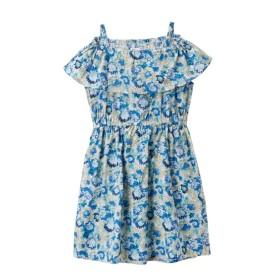 オフショル風フリルワンピース(女の子 子供服。ジュニア服)ポケット付 ワンピース