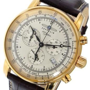 ツェッペリン ZEPPELIN 100周年記念モデル クオーツ メンズ クロノ 腕時計 7680-5 シルバー シルバー
