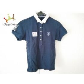 サイコバニー PsychoBunny 半袖ポロシャツ サイズS レディース ネイビー×白 刺繍   スペシャル特価 20190909