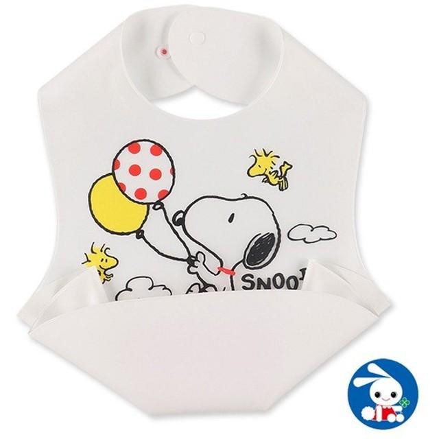 ベビー服 男の子 食事用立体ポケットエプロン(スヌーピー) 赤ちゃん ベビー 新生児 乳児 幼児 子供服 おしゃれ