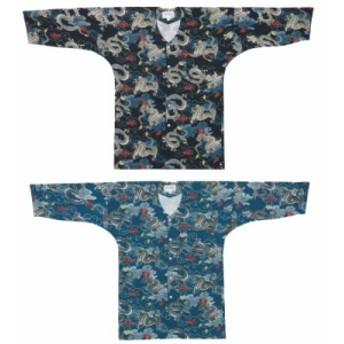 【お祭り用品・衣装】 鯉口シャツ 龍 黒・青ネズ B644・B645 S-3L