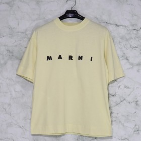 MARNI / MA S/S CREW NECK T-SHIRT MARNI JERSEY CITRINE 2019SS