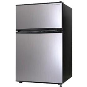 2ドア冷蔵庫 90L シルバーヘアライン RM-90L02SL