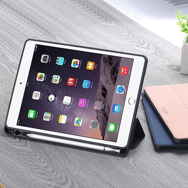 TOTU | 幕系列,iPad 9.7吋保護套,9.7吋,玫瑰金,黑色,藍色,保護殼支撐架,iPad,內含筆槽,智能休眠