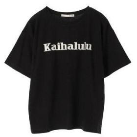 アースミュージックアンドエコロジー earth music&ecology KaihaluluオーガニックコットンBigTシャツ (Black)