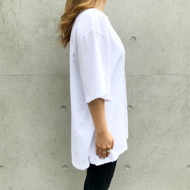Tシャツ - SHEENA ROMANTICプリントルーズTシャツ Tシャツ カットソー トップス プリント ルーズ BIG ビッグ オーバー ダメージ ストリート ダンス カジュアル