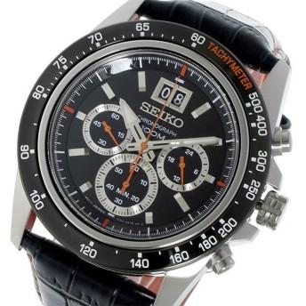 セイコー SEIKO クロノグラフ クオーツ メンズ 腕時計 SPC237P1 ブラック ブラック