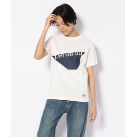 【50%OFF】 ビーセカンド BLUEY SURFCLUB(ブルーイサーフクラブ)WプリントTシャツ レディース WHITE M 【B'2nd】 【セール開催中】