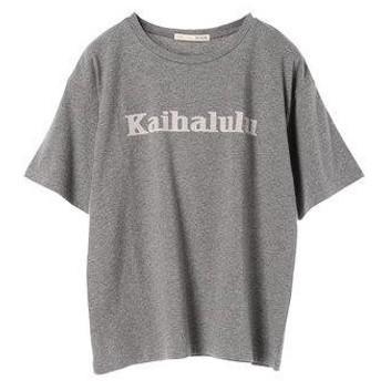 アースミュージックアンドエコロジー earth music&ecology KaihaluluオーガニックコットンBigTシャツ (Gray Mixt