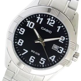 【希少逆輸入モデル】 カシオ CASIO クオーツ メンズ 腕時計 MTP-1308D-1BVDF ブラック ブラック