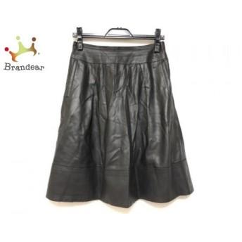 ランバンコレクション LANVIN COLLECTION スカート サイズ36 S レディース 黒 フェイクレザー スペシャル特価 20190908