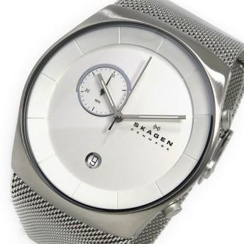 スカーゲン SKAGEN クロノ クオーツ メンズ 腕時計 SKW6071 ホワイト ホワイト