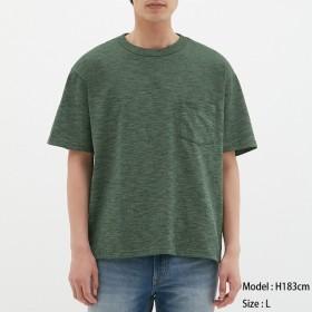 (GU)ビッグT(半袖)(メランジ) GREEN XS