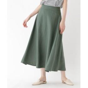 DRESSTERIOR / ドレステリア 【洗える】リネンキャンバスフレアミディスカート