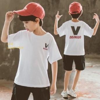 プリントTシャツ 男の子 キッズ 薄手 Tシャツ 子供服 通園 ティーシャツ 半袖 クルーネック ゆったり カジュアル ジュニア 夏新作 トップ