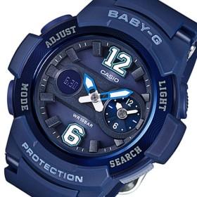 カシオ ベビーG アナデジ クオーツ レディース 腕時計 BGA-210-2B2 ネイビー ネイビー