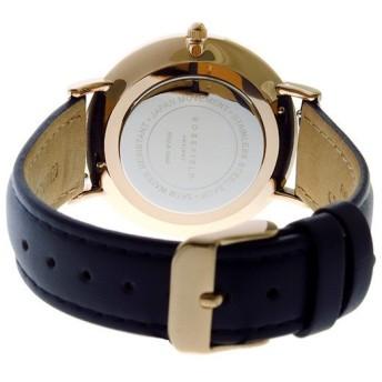 ローズフィールド Rosefield THE BOWERY 38mm クオーツ ユニセックス 腕時計 BWBUR-B14 ホワイト ホワイト