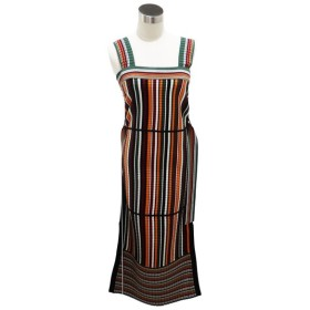 3.1Phiillip Lim / MULTI STRIPED MAXI DRESS W FRONT TIE