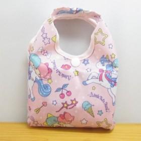 サンリオ リトルツインスターズ キキ&ララ  エコバッグ ピンク 雑貨 エコバッグ 折り畳みバッグ トートバッグ 買い物 折りたたみ