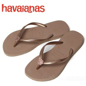 ハワイアナス ビーチサンダル レディース havaianas SLIM CRYSTAL POEM SA ROSE GOLD/METALLIC RG 4127406-8548