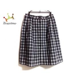 ヨークランド スカート サイズ11 M レディース 美品 ダークネイビー×レッド チェック柄   スペシャル特価 20190826