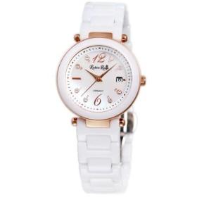 ルビン ローザ Rubin Rosa ソーラー セラミック クォーツ式 レディース 腕時計 R307PWHMOP