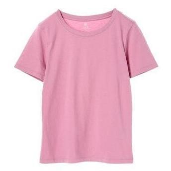 アースミュージックアンドエコロジー earth music&ecology ベーシッククルーネックTシャツ (Pink)