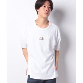 (VENCE EXCHANGE/ヴァンスエクスチェンジ)別注 KANGOL カンゴール ワイド刺繍Tシャツ/メンズ ホワイト