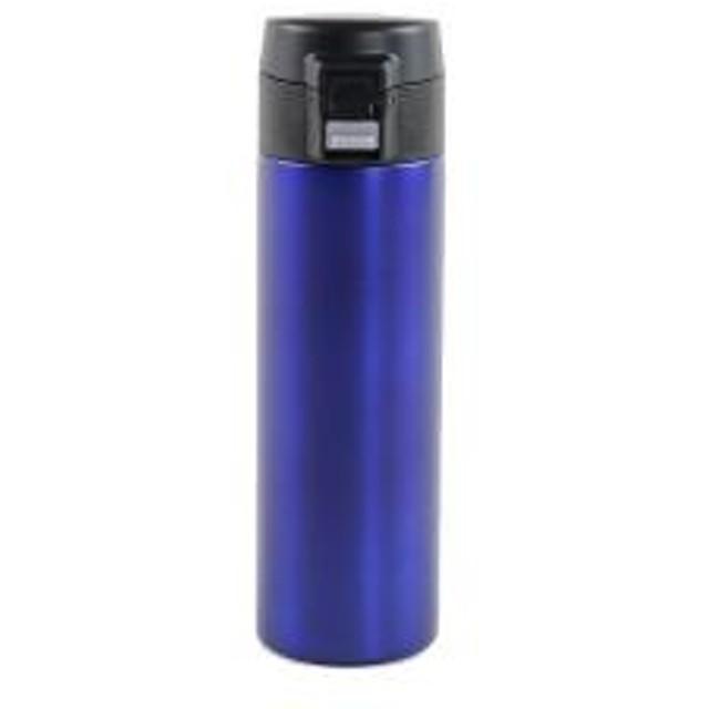 水筒 直飲み 保冷 保温 マグボトル ステンレス スリム ワンタッチマグボトル 300ml ブルー