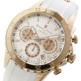 サルバトーレマーラ クロノ クオーツ メンズ 腕時計 SM17112-PGWH シルバー/ピンクゴールド シルバー