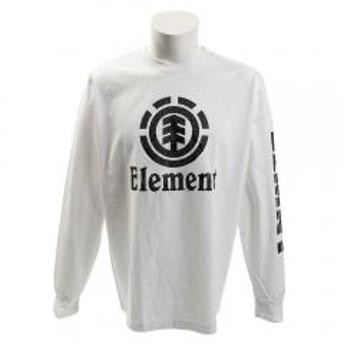 エレメント ロゴ長袖Tシャツ AH021051 WHT(Men's)