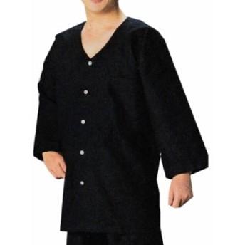【お祭り用品・衣装】 本ダボシャツ 黒 無地 S-LL B639