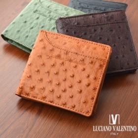 ルチアーノ バレンチノ LUCIANO VALENTINO 二つ折り財布 短財布 LUV-5004-BK ブラック ブラック