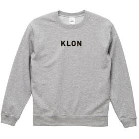 クローン KLON SWEAT LOGOTYPE GRAY(LOGO BLACK) ユニセックス グレー XLサイズ 【KLON】