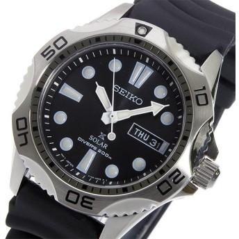 セイコー SEIKO ソーラー メンズ ダイバーズ 腕時計 SNE107P2 ブラック