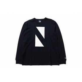【ストア限定】 長袖 コットン Tシャツ N トライアングル ブラック