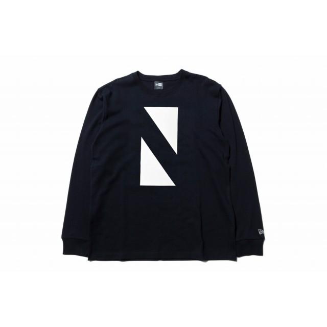 【ニューエラ公式】 ストア限定 長袖 コットン Tシャツ N トライアングル ブラック メンズ レディース 2X-Large 長袖 Tシャツ 12031541 NEW ERA
