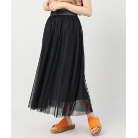 B.C STOCK チュールギャザースカート ブラック フリー