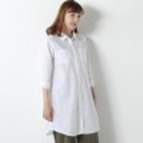 羽織にも◎綿混ミリタリーシャツワンピース【M~5L】