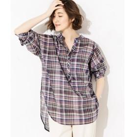 RIVE DROITE / リヴドロワ ローンチェックチュニックシャツ