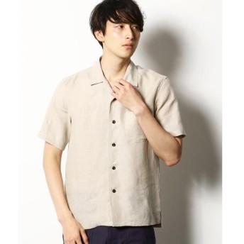 COMME CA COMMUNE / コムサコミューン 【Herdmans】 コンチネンタルリネン オープンカラーシャツ
