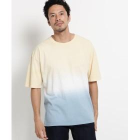 オペークドットクリップ グラデーションダイTシャツ メンズ ライトベージュ(051) 03(L) 【OPAQUE. CLIP】