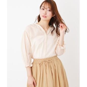 pink adobe(ピンクアドベ) 袖フリルスキッパーシャツ