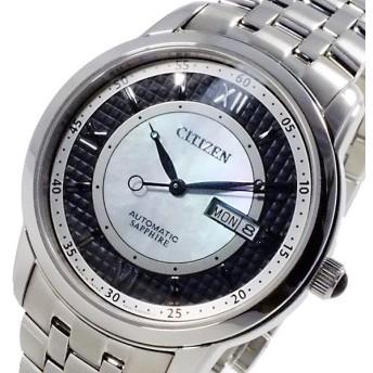 シチズン CITIZEN メカニカル 日本製 自動巻 メンズ 腕時計 NH8300-57E ブラック ブラック