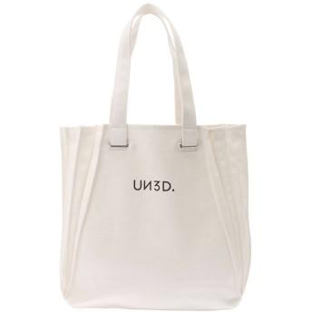 UN3D. オリガミプリーツトート トートバッグ,ホワイト