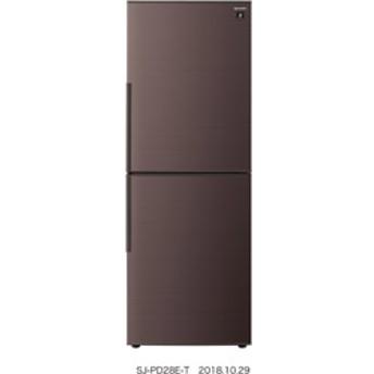 プラズマクラスター冷蔵庫 SJ-PD28E-T ブラウン系