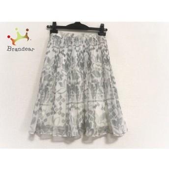 マックスマーラスタジオ スカート サイズ36 S レディース 白×ライトグレー プリーツ/花柄 スペシャル特価 20190826