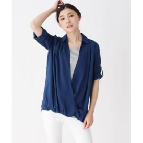 (SHOO・LA・RUE/シューラルー)カシュクールインナードッキングシャツ/レディース ネイビー(093)